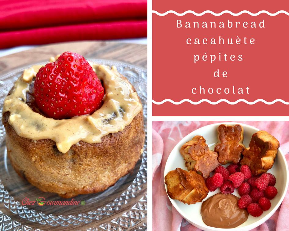 Bananabread cacahuete chocolat
