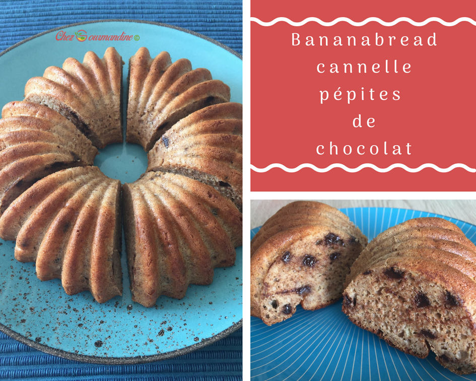 Bananabread cannelle chocolat