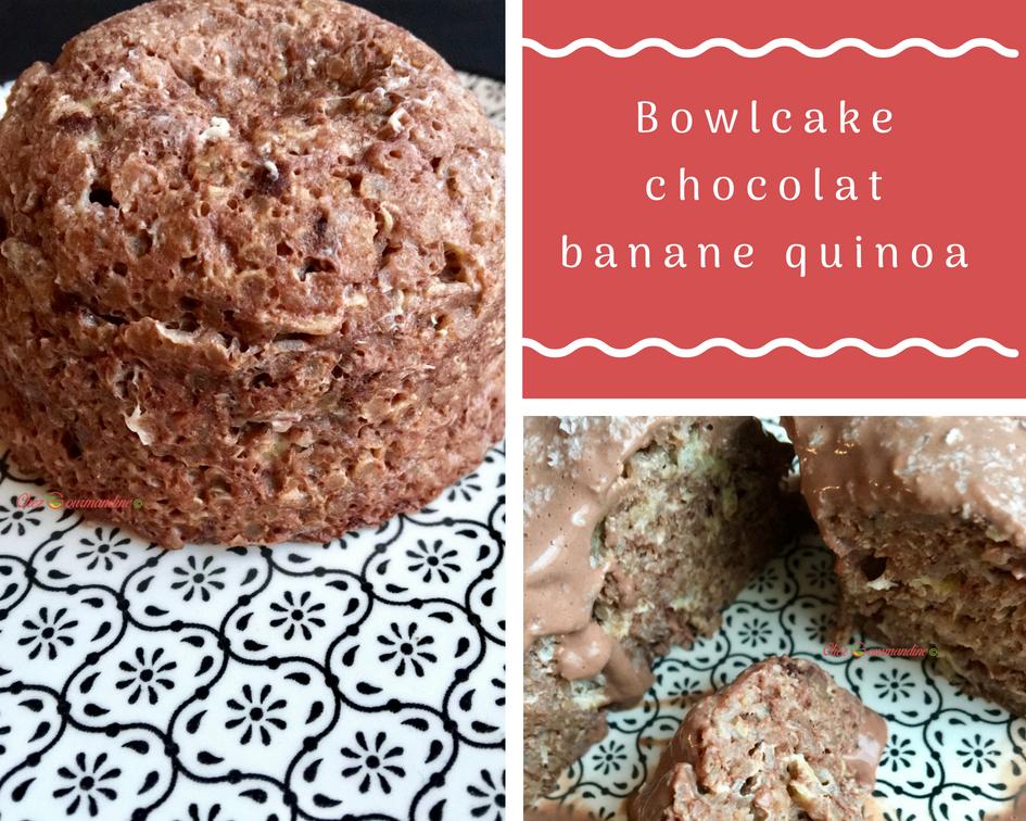 Bowlcake chocolat banane quinoa