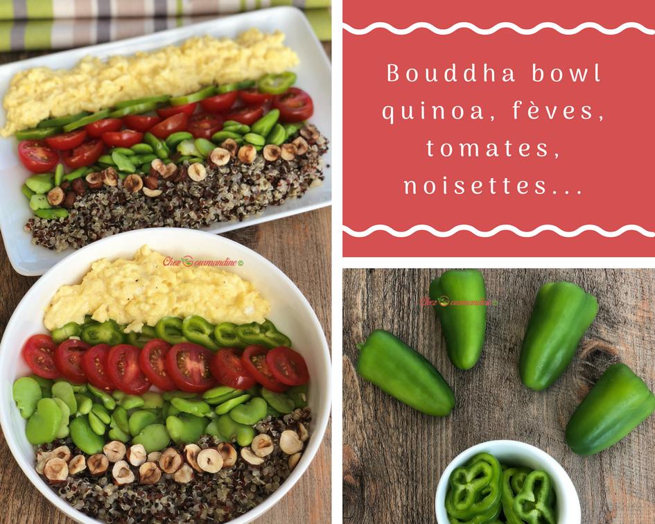 Bouddha bowl quinoa, fèves