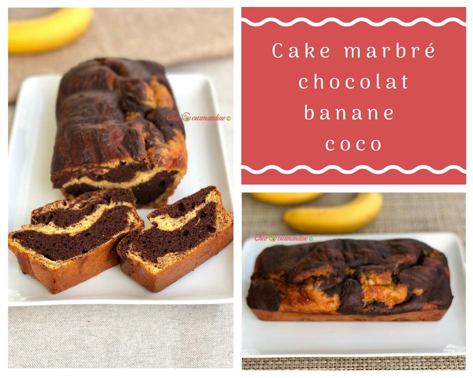 Cake marbre choco coco