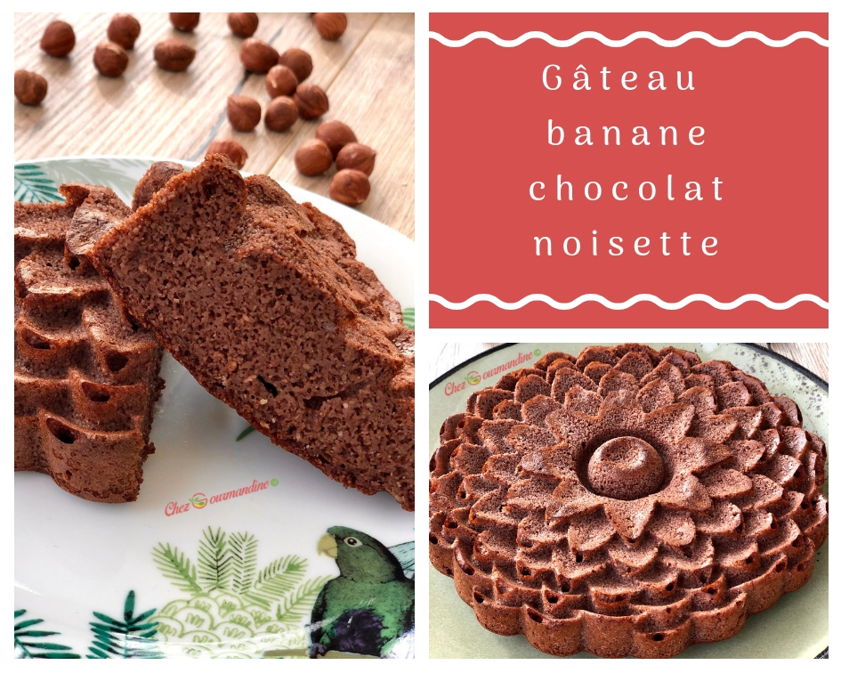 Gâteau banane chocolat noisette