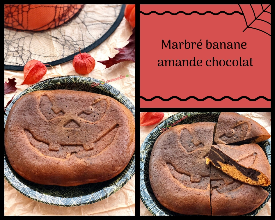 Marbré banane amande chocolat