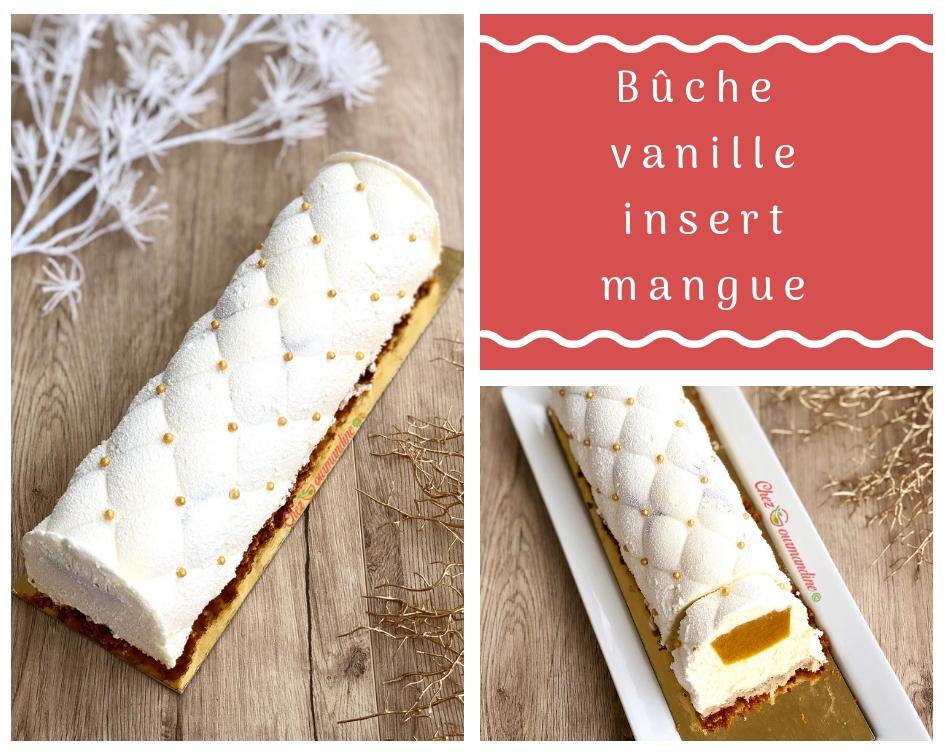Bûche vanille insert mangue