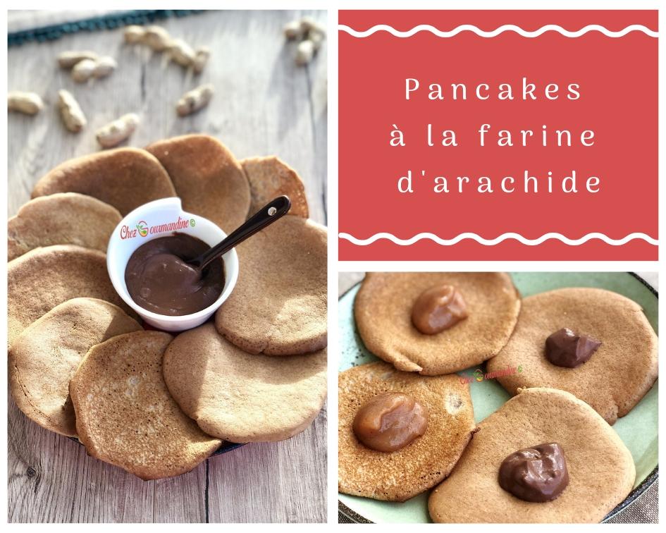 Pancakes à la farine d'arachide