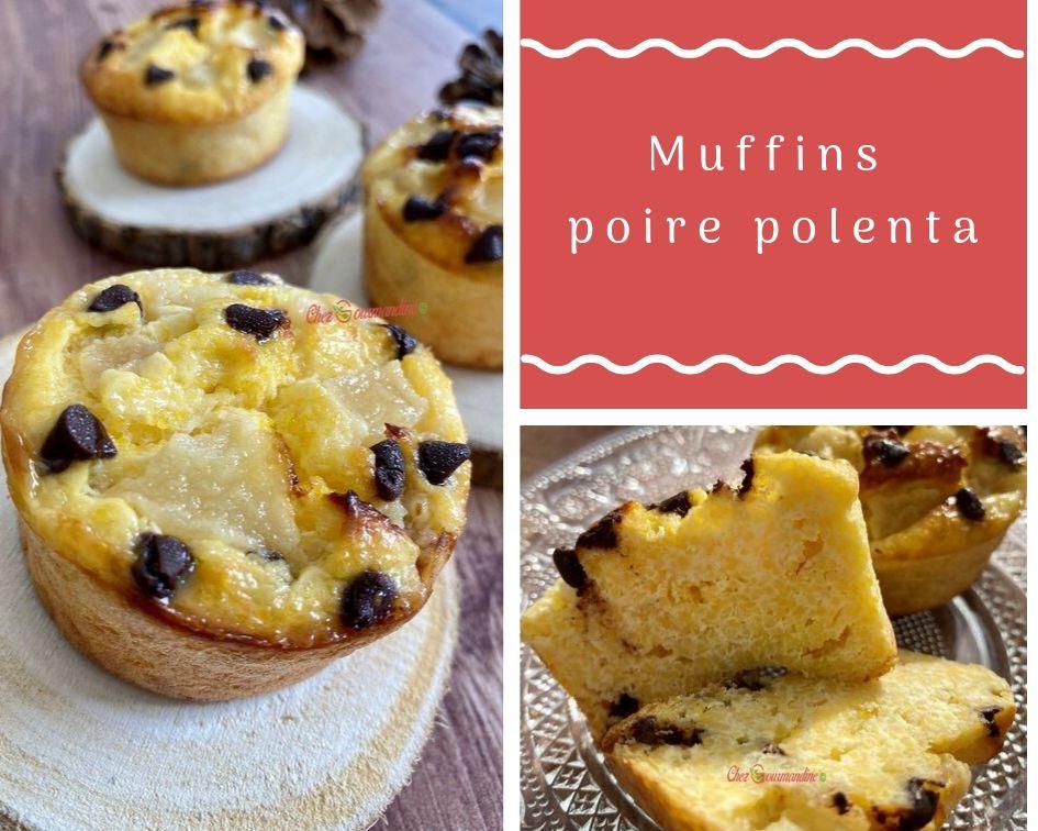 Muffins poire polenta