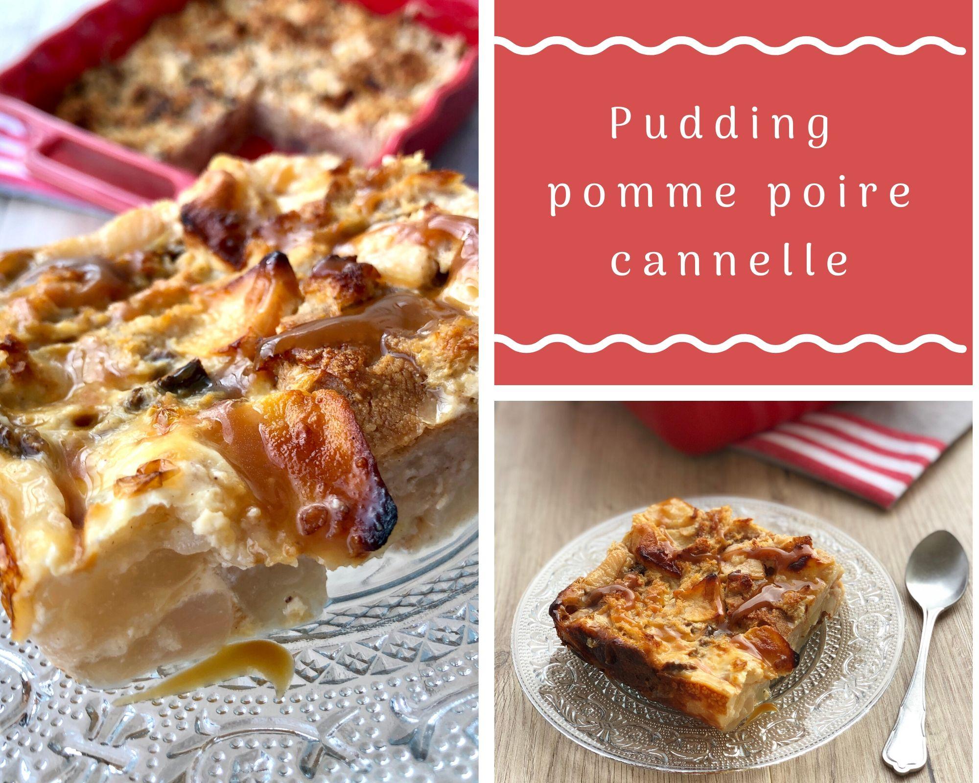 Pudding pomme poire cannelle