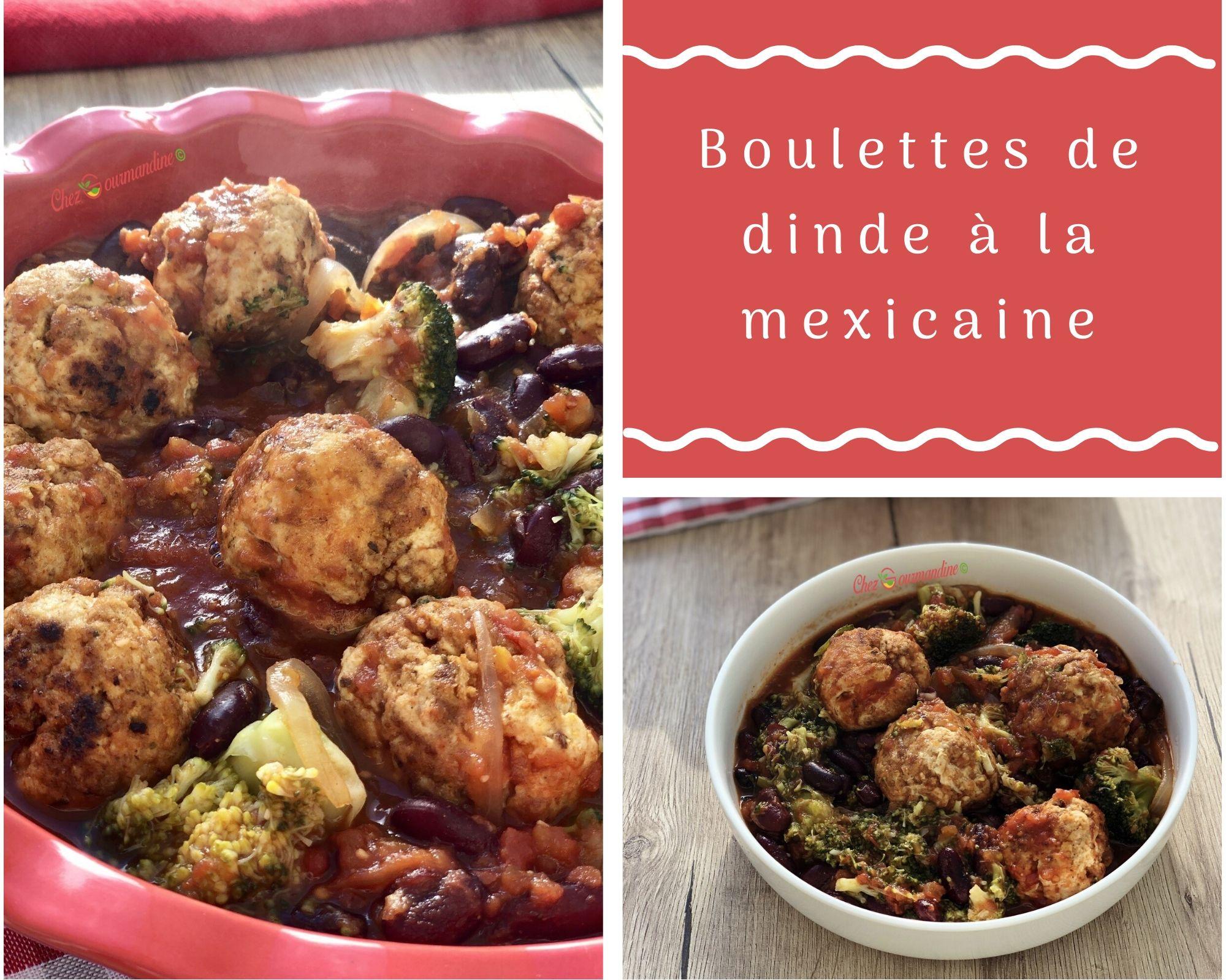 Boulettes de dinde à la mexicaine