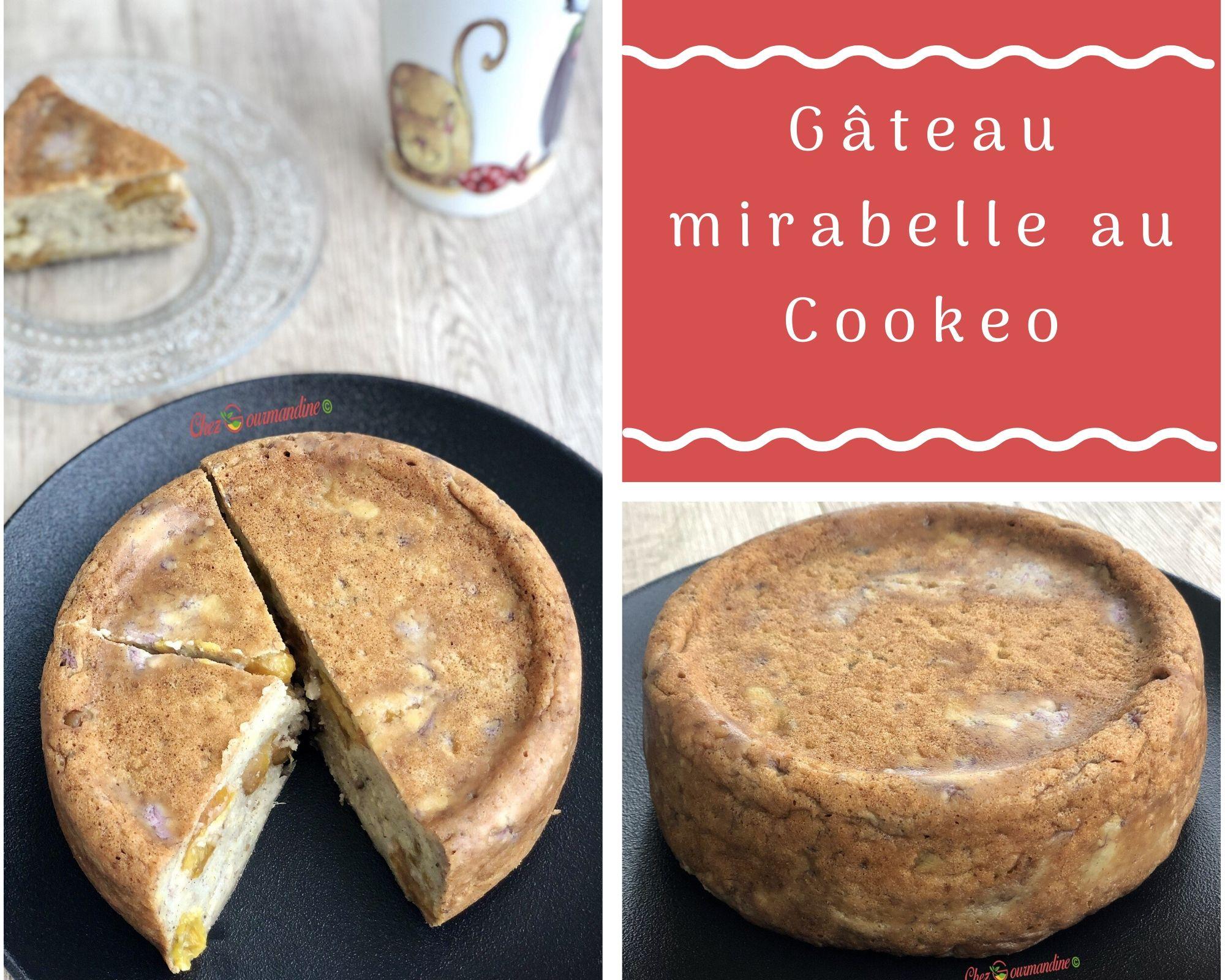Gâteau mirabelle au Cookeo