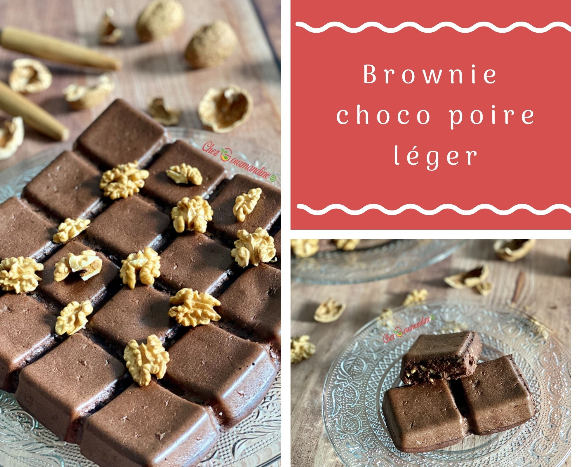Brownie choco poire léger