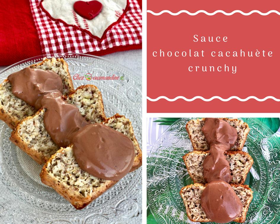 Sauce chocolat cacahuète crunchy