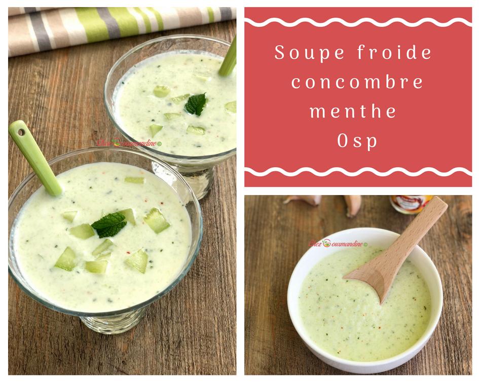 Soupe froide de concombre 0sp