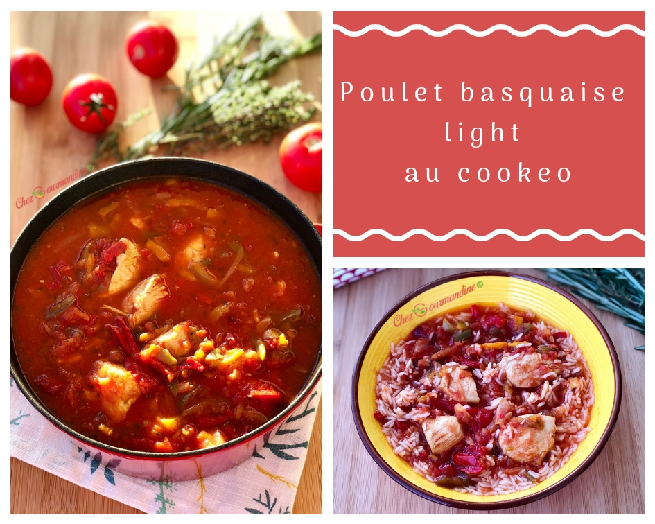 Poulet basquaise light au cookeo