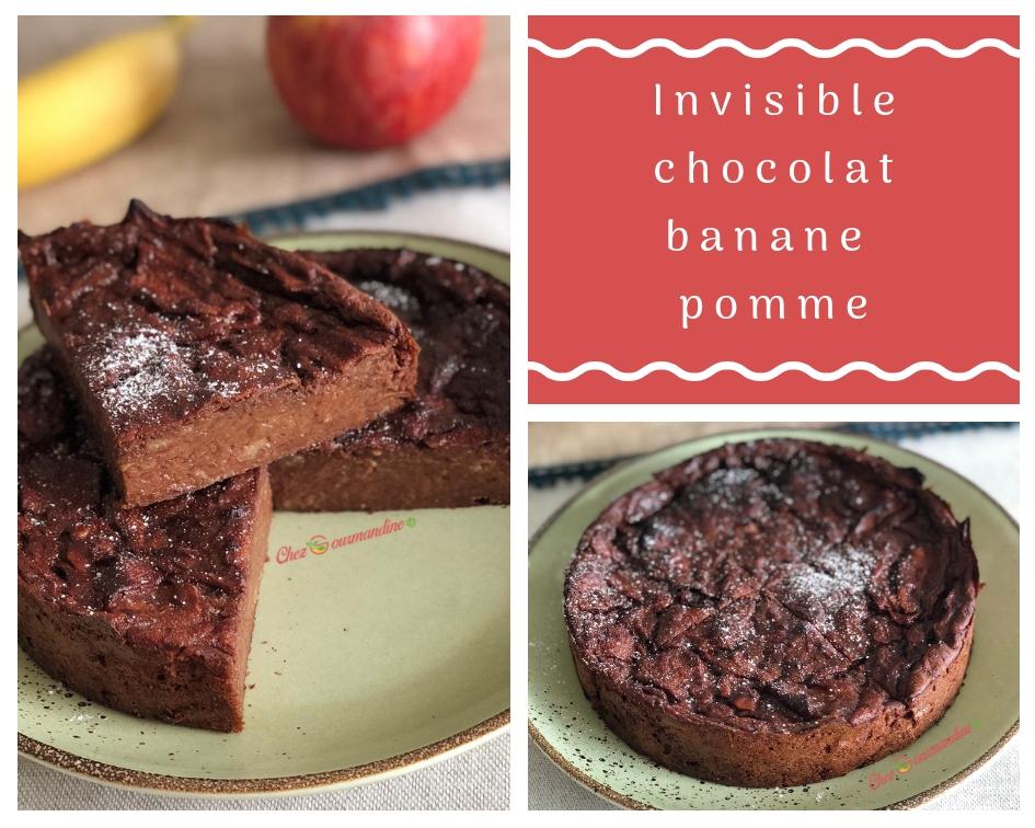 Invisible chocolat banane pomme