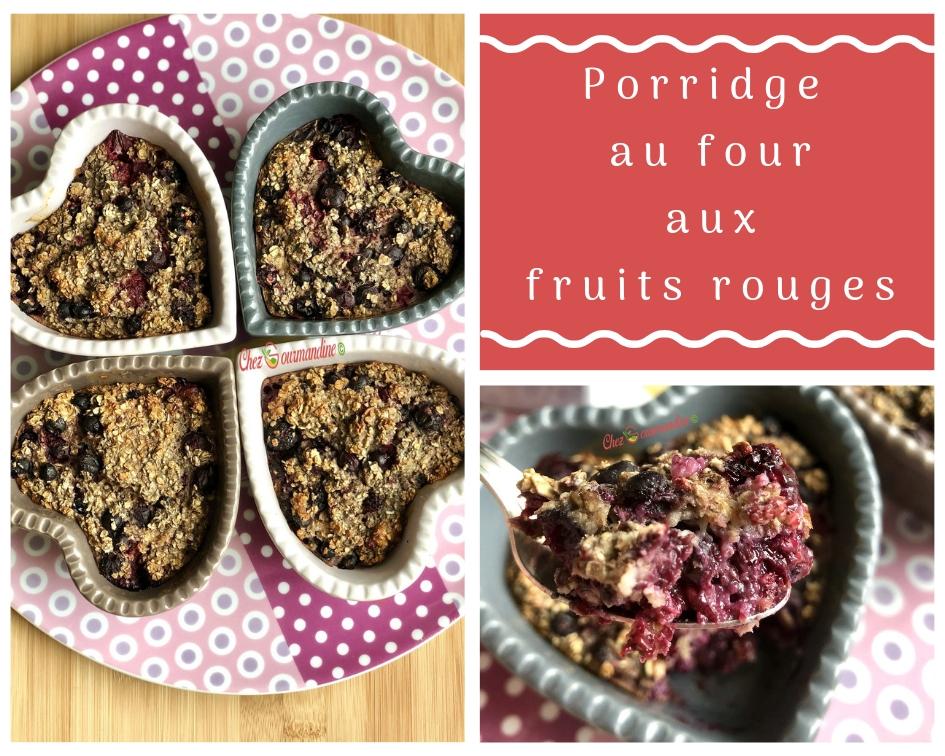 Porridge au four fruits rouges